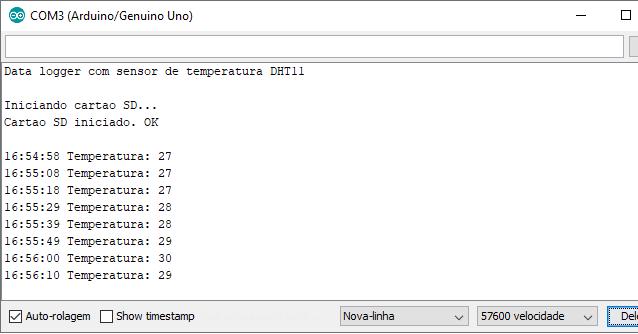 Data logger Serial Monitor