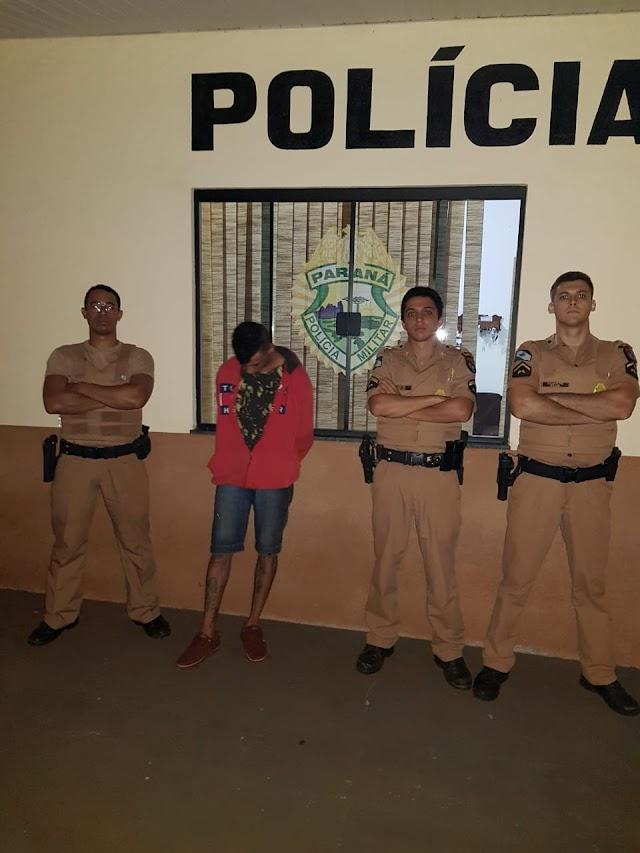 Foragido da cadeia de Iretama é preso pela PM de Roncador