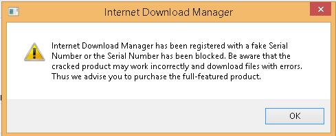 mengatasi idm fake serial number has been blocked