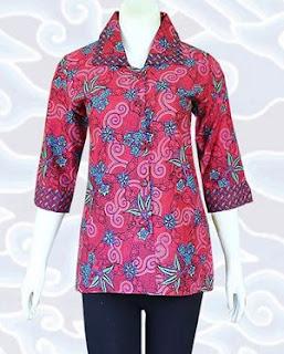 Model Baju Batik Formal Wanita Modern Terbaru