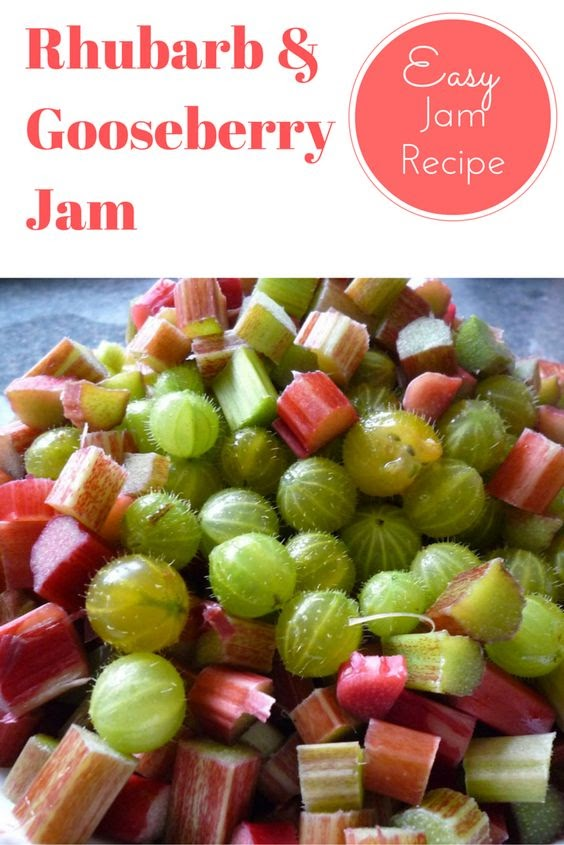 Easy Rhubarb and Gooseberry Jam Recipe (using Microwave)