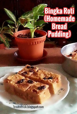 Bingka Roti (Homemade Bread Pudding)  Recipe@ treatntrick.blogspot.com