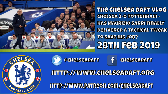 Chelsea 2-0 Tottenham - Has Maurizio Sarri finally delivered a tactical tweak that saves his job?