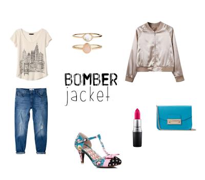bomber jacket boyfriend jeans stylizacja z kurtką bomberką blogger blogerka modowa