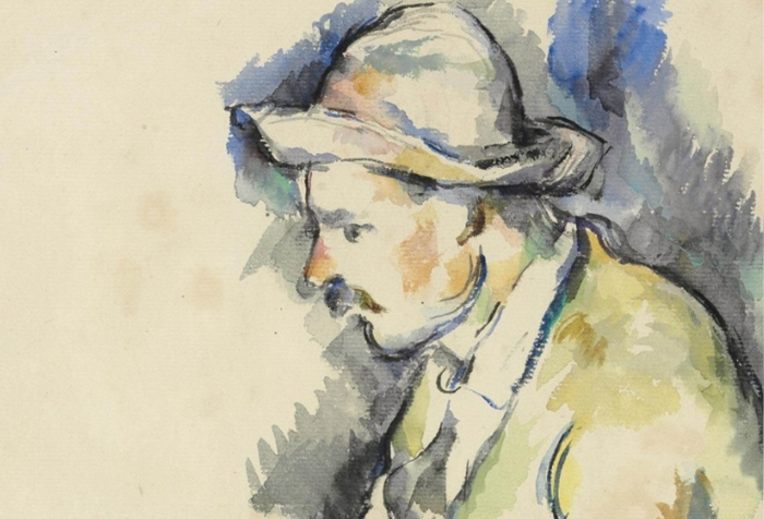 I giocatori di carte - Acquerello di Paul Cezanne - Pittore post-impressionista