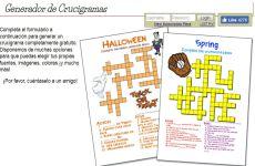 Crossword Maker: generador de crucigramas autodefinidos horizontales y verticales online gratis para imprimir