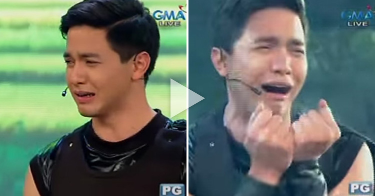 "Watch Alden Richards cry like a kid as ""Lak-angin"""
