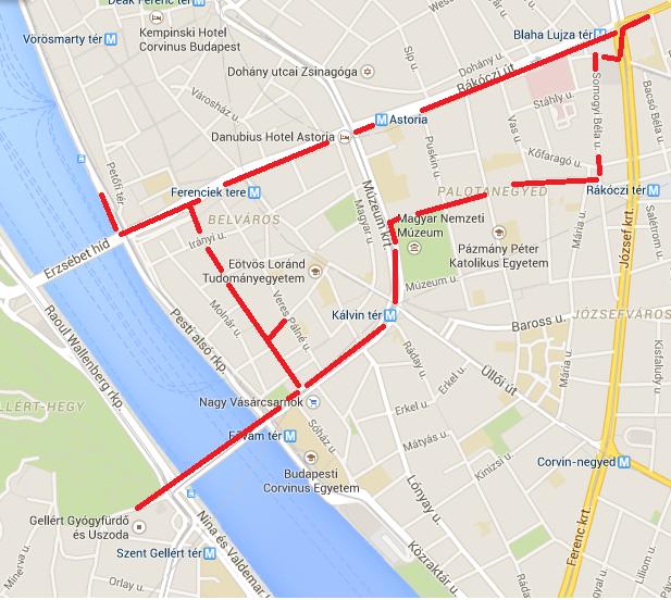 itinerario día 1 en budapest