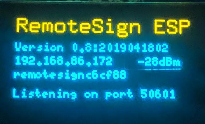RemoteSign: RemoteSign ESP