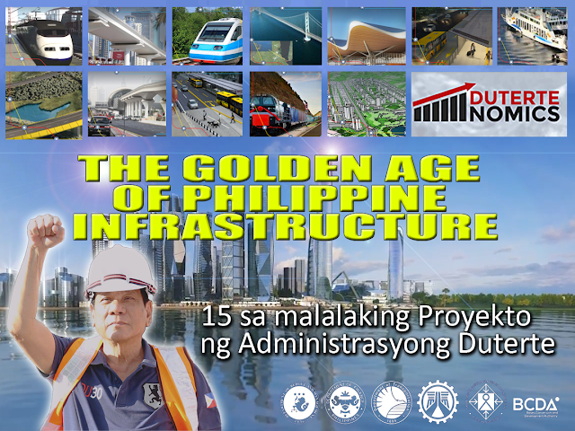 The Duterte Administration has finally launched the Philippines' Golden Age of Infrastructure! During the #Dutertenomics Forum last April 18, 2017, the President Duterte's economic team unveiled the administration's economic program. The forum showed the administration's development plans and the ambitious infrastructure program that will be rolled out in the next six years –  anchored on the president's 10-point socioeconomic agenda that seeks to speed up inclusive growth and transform the economy into one that is also pro-poor. 4th on the President's agenda is the acceleration of Infrastructure spending. President Duterte clearly wants things done – but he also wants everything to be transparent, untainted by suspicions of graft and corruption. The newly launched website www.build.gov.ph is a transparency tool that people can access to check the status of these mega-projects. The economic blueprint – with its massive and very ambitious $160-billion infrastructure plan over the next six years – looks very promising. In the plan, there are 64 big-ticket infrastructure projects in the works. Here are 15 projects that can jump-start the Philippines into a world-class economy:  1. BGC to Ortigas Road Link Project Sta. Monica-Lawton Bridge involves the construction of a 4-lane bridge across Pasig River and a 4-lane viaduct structure traversing Lawton Avenue onwards the entrance of Bonifacio Global City and the ramp before Kalayaan Avenue in the City of Makati. The total length of the projects is 961.427 m.  2. UP-Miriam-Ateneo Viaduct The UP-Miriam-Ateneo viaduct aims to reduce the travel time at Katipunan and CP Garcia.  3. Iloilo-Guimaras-Negros-Cebu Link Bridge When completed, you can find it easier to travel to Iloilo, Guimaras, Negros and Cebu via a bus or car. 4. Davao City bypass construction project Travel to Digos, Davao del Sur through Panabo, Davao del Norte will only be only 45 minutes instead of the usual 2 hours.  5. NLEX-SLEX Connector Road The project involves the construction and operation and maintenance of a 8 km. 4-lane elevated expressway over the Philippine National Railway (PNR) right of way. It starts from C3 Road in Caloocan through Manila crossing Espana towards PUP, Sta. Mesa connecting Metro Manila Skyway Stage 3 (MMSS3). Once completed, the NLEX-SLEX Connector road is expected to decongest traffic in Metro Manila by providing an alternative to C-5 Road, EDSA, and other major thoroughfares, and cut the travel time between NLEX and SLEX to 15-20 minutes which today takes more than an hour. 6. Manila-Clark railway Guaranteed ONE HOUR from Metro Manila to Clark International Airport  7. Metro Manila Bus rapid Train system The Metro Manila Bus Rapid Transit (BRT) - Line 1 Project spans 12.3 kilometers from Quezon Memorial Circle (QMC) to Manila City Hall via Elliptical Road, Quezon Avenue, and Espana Boulevard. It is expected to serve 291,500 passengers daily in its first year of operations. The EDSA BRT Line 2 is a proposal to establish and implement a 48.6-kilometer high-quality bus-based mass transportation system and a corresponding pedestrian and bicycle greenway network. The system consists of four corridors; namely, a main corridor along EDSA, and spur corridors along Ayala Ave. to World Trade Center, Ortigas to Bonifacio Global City, and NAIA terminals.  8. Mindanao Railway A 105 kilometer segment of the larger 830 kilometer Mindanao Railway network. The Mindanao Railway will connect major cities, seaports, economic zones, allowing for faster transportation of passengers and freight. The Tagum-Davao-Digos segment alone is expected to serve over 100,000 passengers daily in its opening year.  9. Regional Airport Development This list includes Bacolod Airport, Davao Airport, Iloilo Airport, Laguindingan Airport, Bohol Airport, and Puerto Princesa Airport. The project involves construction of new airports in Bohol and Palawan, and the expansion, development and upgrade of the other airports mentioned.  10. RORO Ports Development Also called Central Spine RORO Alignment Project (CSR), the project aims tp align road and sea linkages through the Roll-on Roll-off system from Batangas Port, Batangas City to Cagayan de Oro. These include RORO ports in Manila, Batangas, Oriental Mindoro, Naga, Aklan, Iloilo, Negros Occidental, Cebu, Bohol, Zamboanga.  11. Clark International Airport , New Terminal Building With a proposed capacity of 8 million passengers, the new terminal is expected to decongest Manila-based terminals and encourage Filipinos to use the airport as a viable alternative to the NAIA.  12. Clark Green City Envisioned to be the country's  first smart, disaster-resilient and green metropolis, the Clark Green City is a 9,450-hectare master planned property within the Clark Special Economic Zone. At full development, Clark Green City will have some 1.12 million residents, 800,000 workers and contribute a gross output of approximately P1.57 trillion per year to the national economy.  13. BGC to NAIA Bus Rapid Transit System One can arrive at the NAIA airport within 15 minutes from Fort Bonifacio. No traffic and no delay.  14. Subic Clark Cargo Railway Project A connection from the Subic port and the Clark airport to reduce the number of cargo and delivery trucks traversing Metro Manila, and in effect, reducing cost of goods.  15. Mega Manila Subway Phase 1 from Quezon city to Taguig A 25-kilometer underground mass transportation system connecting major business districts and government centers. It is expected to serve around 370,000 passengers per day in its opening year alone. The feasibility study is being conducted with the help of a grant from the Japan International Cooperation Agency (JICA). In his 10-point Socioeconomic Agenda, President Rodrigo Duterte envisioned the reduction of poverty from 21.6% in 2015 to 13%-15% by 2022. The acceleration of infrastructure and the development of industries will yield robust growth across the archipelago, create jobs and uplift the lives of Filipinos. Infrastructure is among the top priorities of this Administration with public spending on infrastructure projects targeted to reach 8-9 trillion pesos from ‎2017-2022.