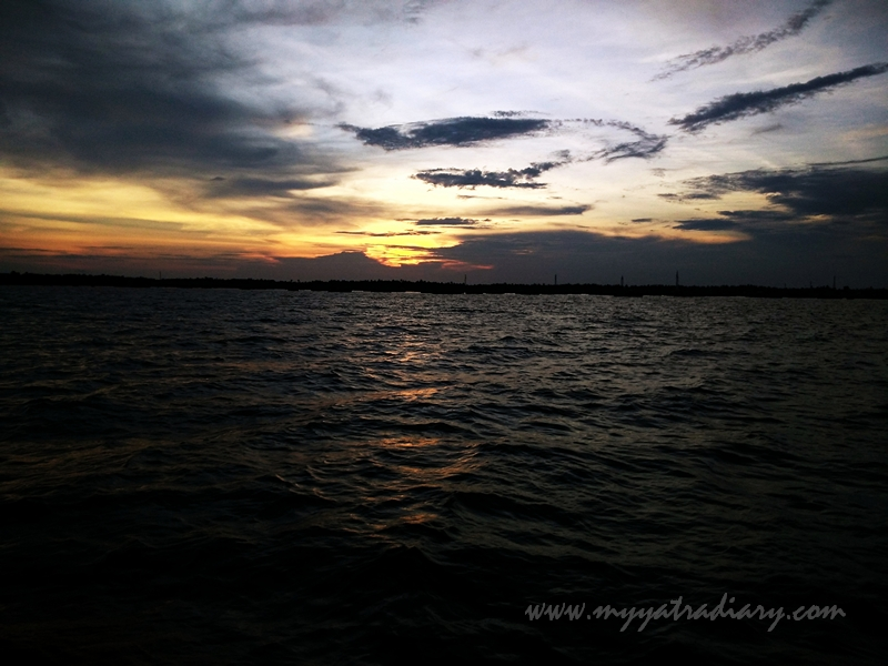Bewitching sunset during boat ride in Rameswaram, Tamil Nadu