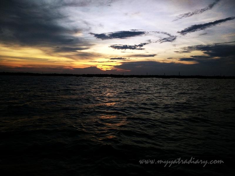 Bewitching sunset during boat ride in Rameswaram, Tamil Nadu