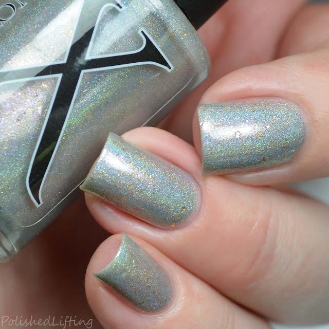 silver holo nail polish