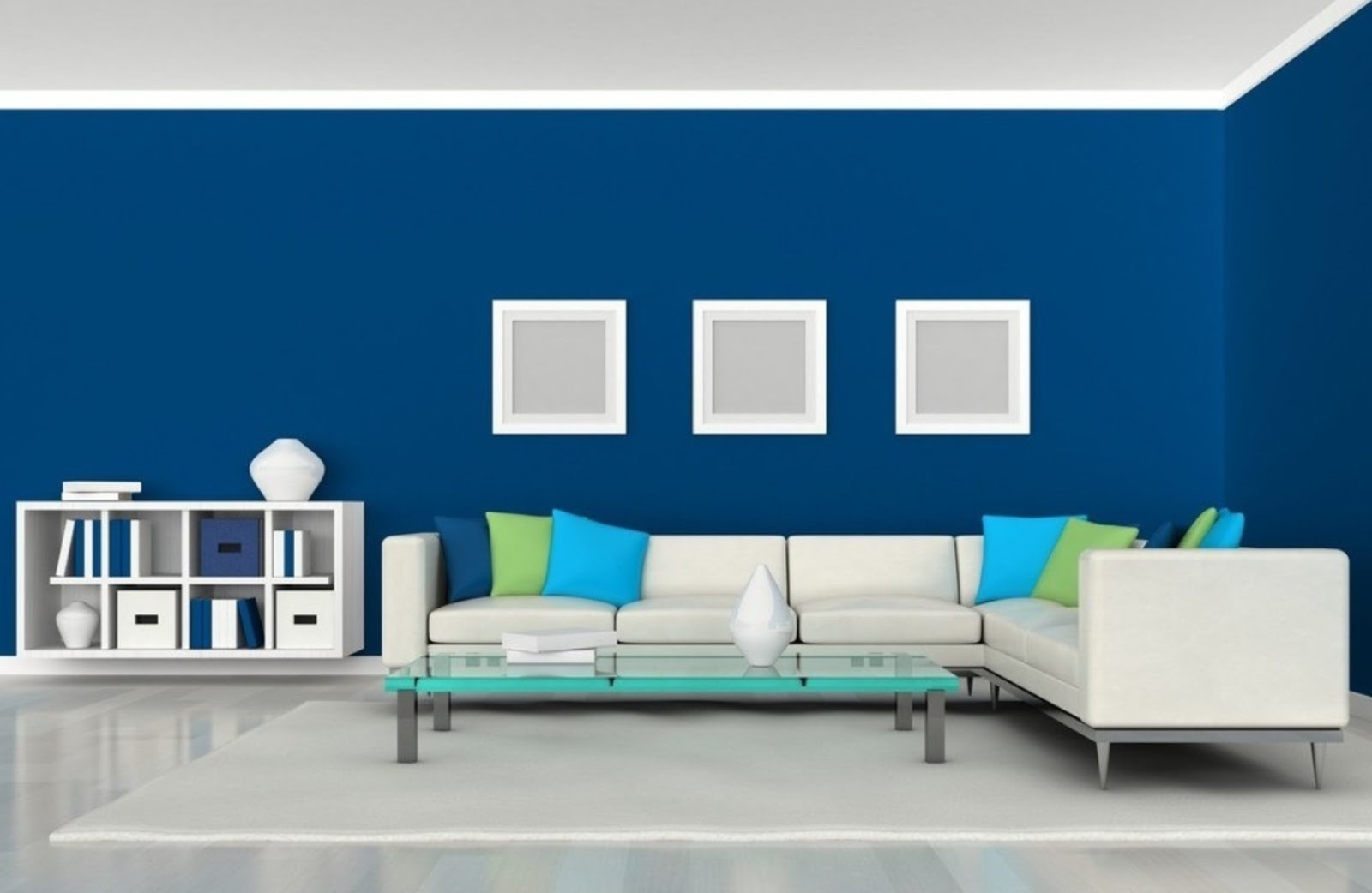 Simple Blue Living Room Decors