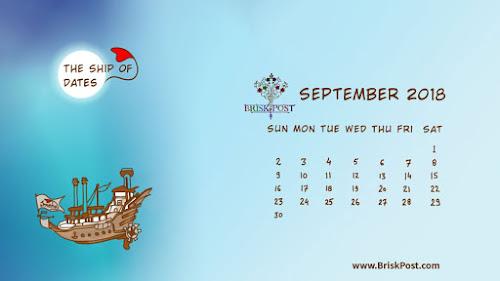 September 2018 Calendar