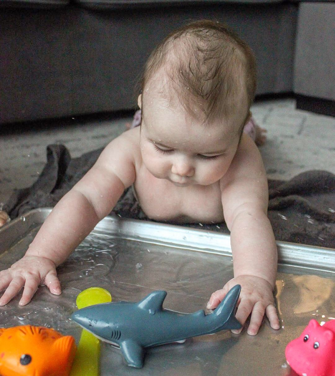 DIY Indoor Water Table for Baby