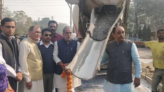 Modi's Minister Krishna Pal Gujjar inaugurated the development works of 1 crore done in Ip colony