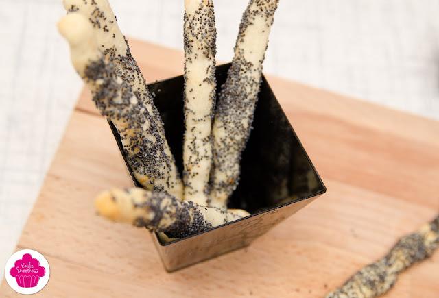 Gressins au pavot sans gluten - Noël sans gluten