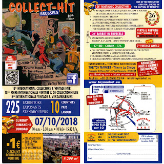 'Collect-Hit'; 17th BD Comix TV; 18th International Collectors & Vintage Fair; 26th Nostalgic Collection; 5th Vintage World; Barbie in Brussels; Brussels Belgium; Ephemera; Expo; Joint Toy & Collectables Shows; Kart Expo; Model Show; News Views Etc; Show Dates; Show Reports; Show Times; Small Scale World; smallscaleworld.blogspot.com; Sunday 7th October; Toy Fair; Toy Show;
