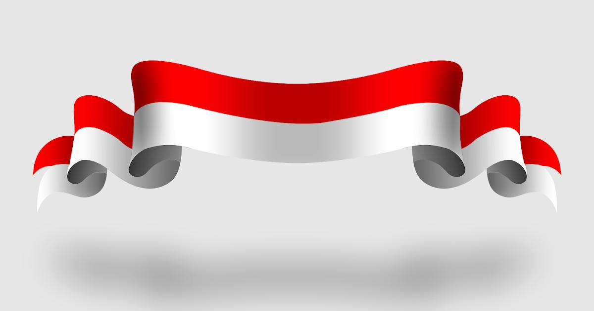 Vektor Bendera Merah Putih Berkibar Png
