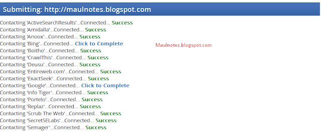 Maulnotes.blogspot.com-Cara Mendaftarkan Blog/Website Ke Puluhan Search Engine Sekaligus