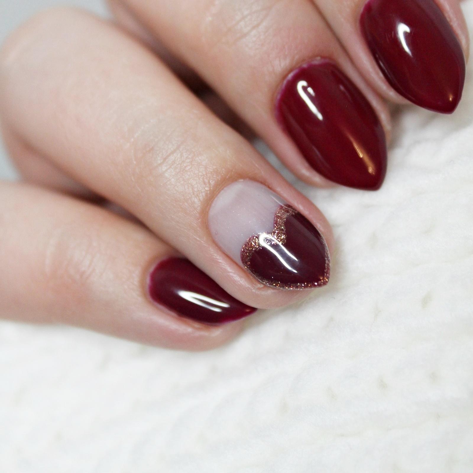 Kolekcja lakierów hybrydowych DIVINITY by Osi Ugonoh - NC Nails Company | Przegląd kolorów i proste walentynkowe zdobienie