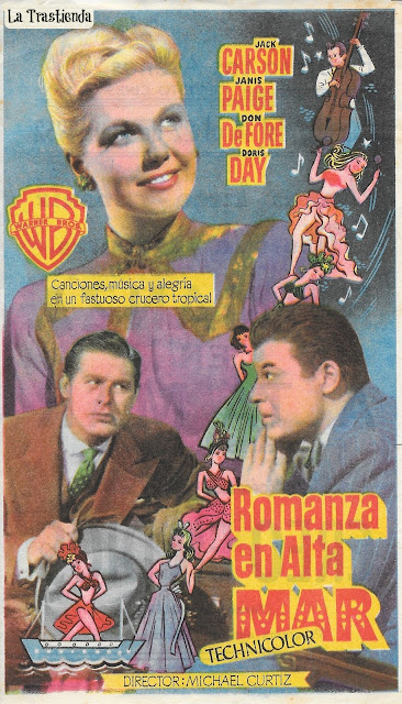 Programa de Cine - Romanza en Alta Mar - Doris Day - Jack Carson