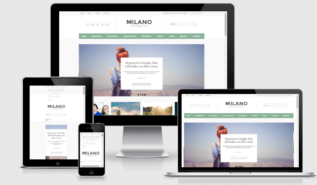Milano premium responsive blogger template