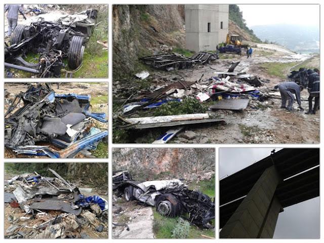 ΕΚΤΑΚΤΟ: Νταλίκα έπεσε σε γκρεμό σε γέφυρα της Εγνατίας οδό στο ύψος της Σέλλιανης Παραμυθιάς