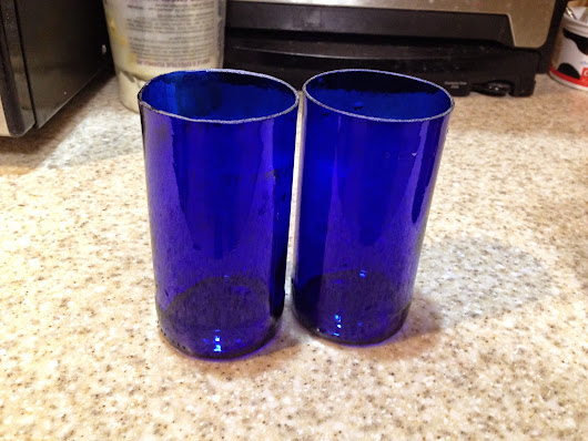 Upcycled glasses (a use for bud light platinum)