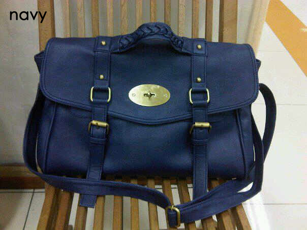 d166e71a38 ... cheap lyst mulberry navy blue leather and suede bayswater tote bag in blue  mulberry wallet handmade