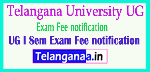 Telangana University UG I Sem Exam Fee Notification 2018 Download