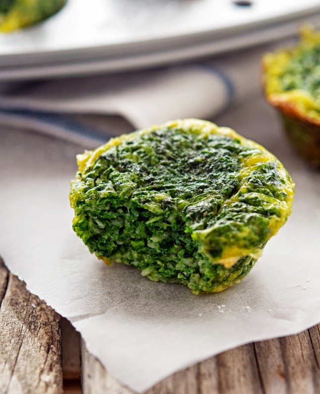 Spinach and Cheddar Egg Muffins