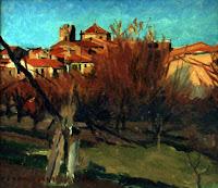 Douglas Ferrin,  International Art Gallery, Self Portrait, Art Gallery, Portraits of Painters, Fine arts, Self-Portraits, Painter Douglas Ferrin, View of Ceret