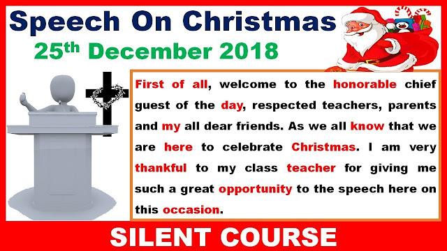 Christmas Welcome Speech 2018
