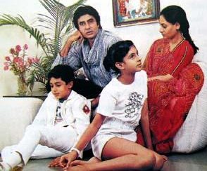 Abhishek's childhood family
