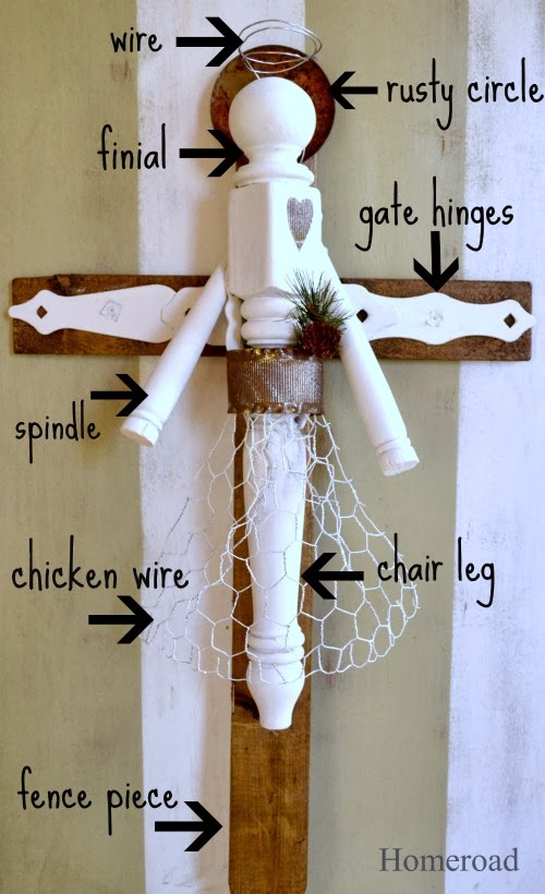 How to Make an Angel From Furniture Parts. Homeroad.net