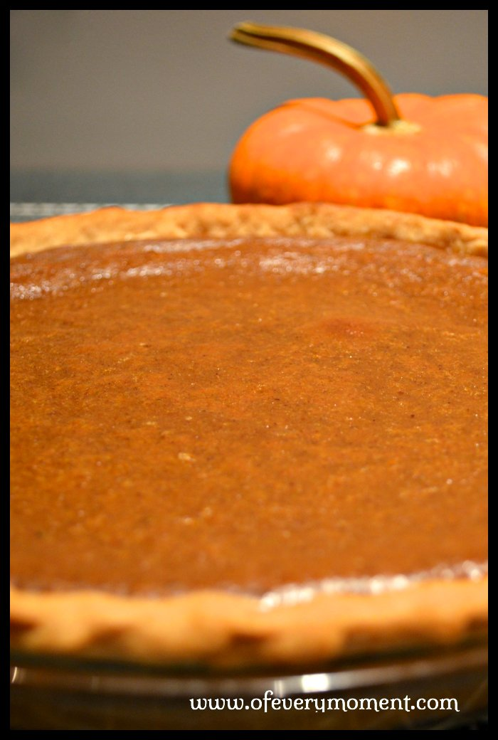 A Thanksgiving menu  just doesn't seem complete without a pumpkin pie