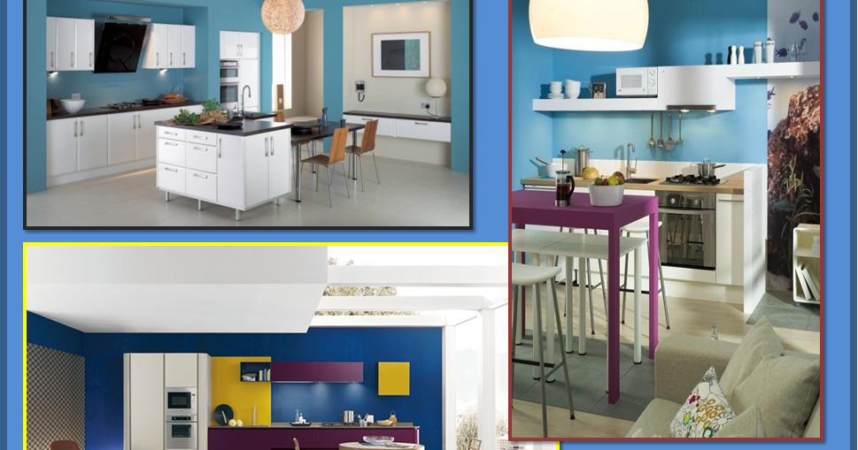 Gena design parete colorata in cucina - Parete colorata cucina ...