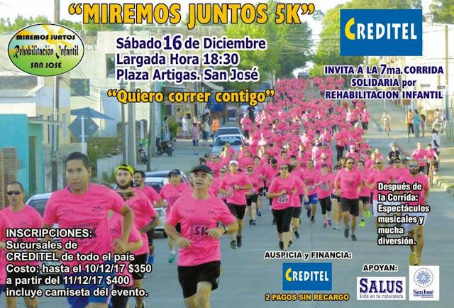 """5k Miremos juntos """"Quiero correr contigo"""" por la rehabilitación infantil (San José, 16/dic/2017)"""