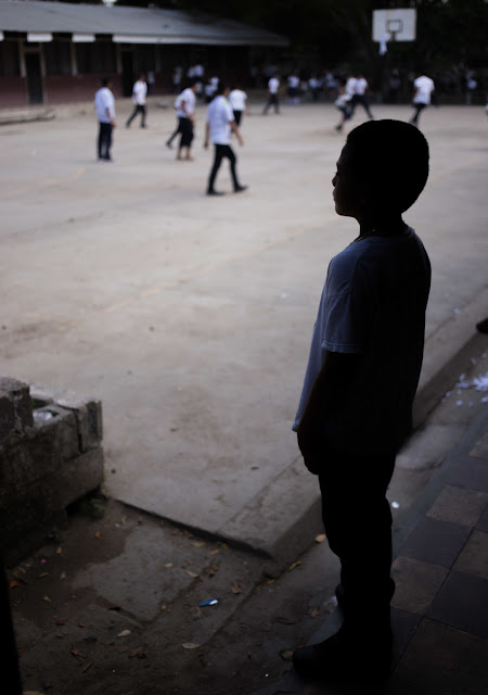 Javier, 10, attends the UNICEF-supported Carlos Alberto Rivera Hernandez School in San Pedro Sula, Cortes, Honduras.