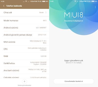 Xiaomi Mi 5 Telefonu Güncellemek ve Global Stable ROM Yüklemek