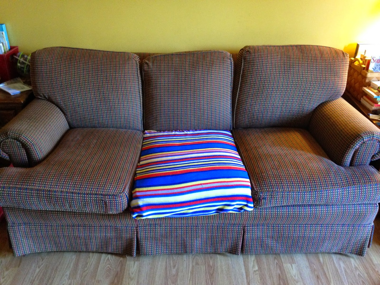 how to fix sofa back cushions outdoor wicker sectional babyfingers quick and easy 15 minute for damaged