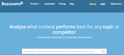 buzzsumo tool for bloggers