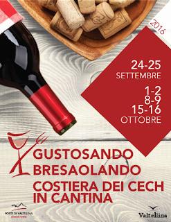 Gustosando, Bresaolando e la Costiera dei Cech in Cantina  dal 24 settembre al 16 ottobre  Valtellina