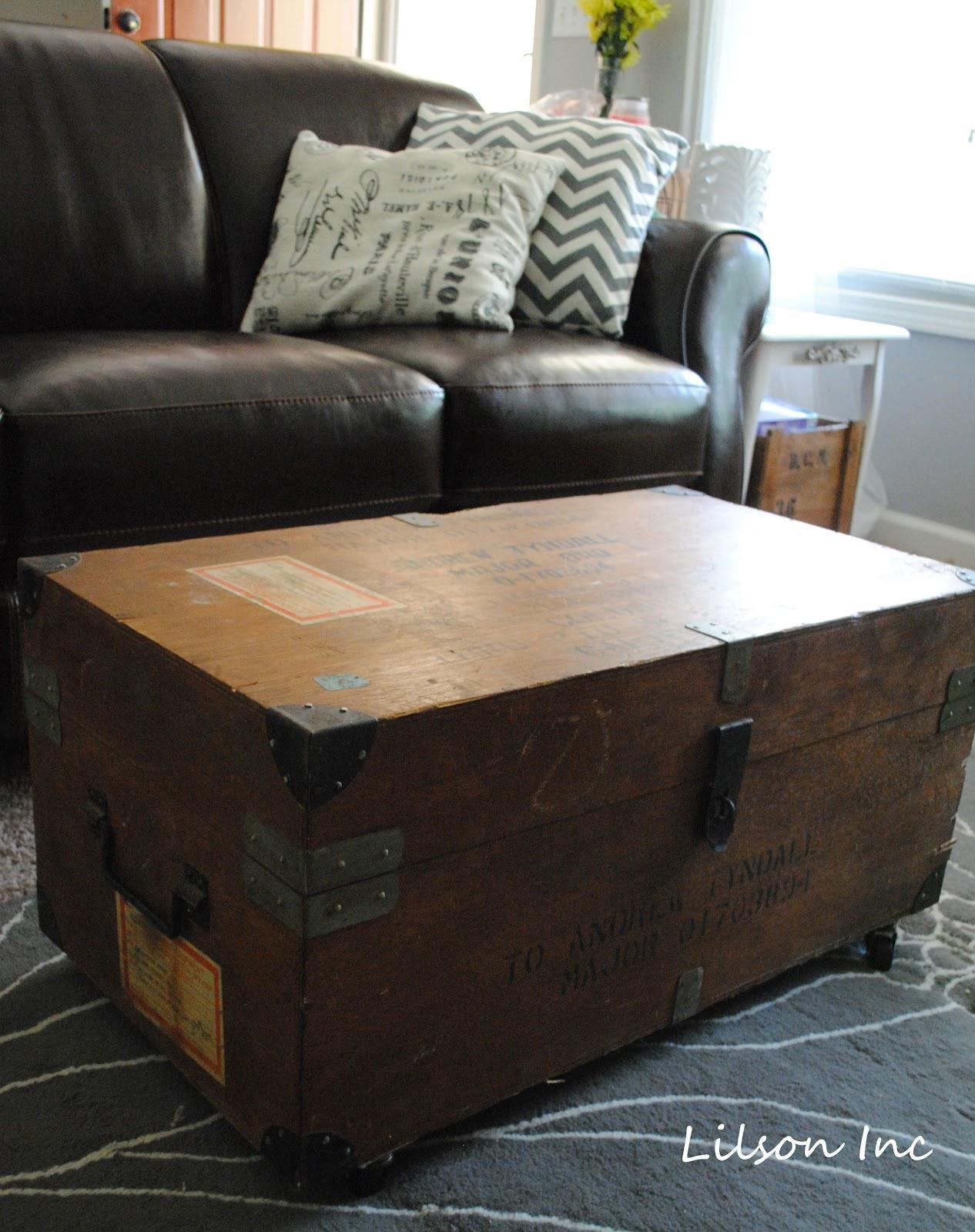 Refound Vintage Repurposed Military Trunk