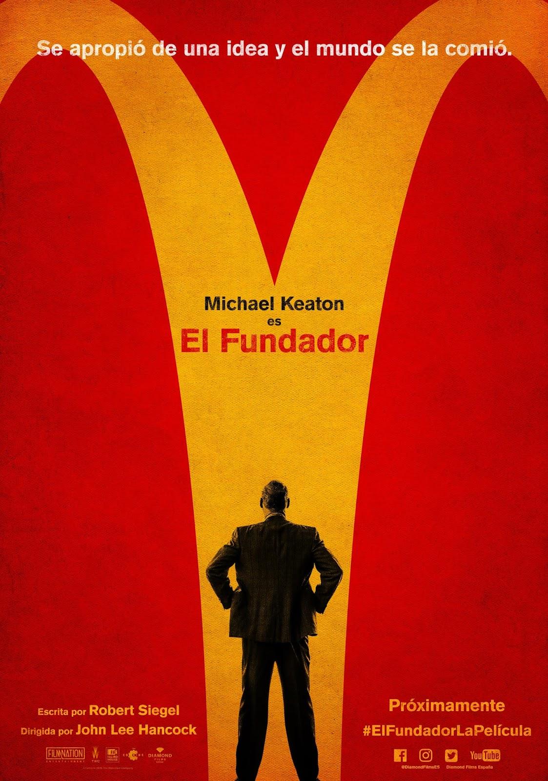 Teaser póster y tráiler español de 'El Fundador'