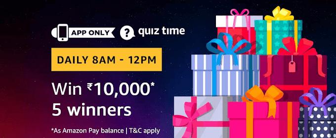 Amazon | Amazon Quiz Today  01 July  2019 Answers