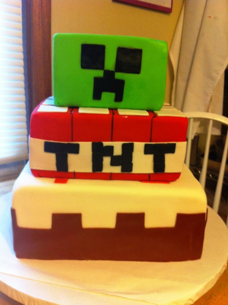 Cookied Oh Minecraft Birthday Cake