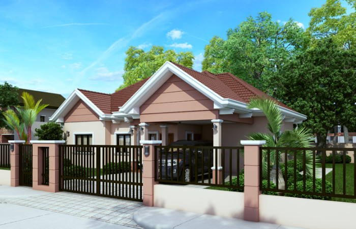 40 small house images designs with free floor plans lay for Small house gate design philippines